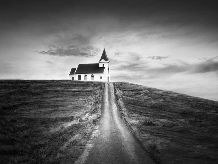 Church on a hill, Iceland